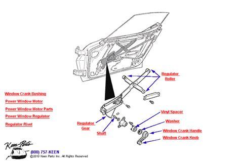 power window parts diagram 1971 corvette window regulator parts parts accessories