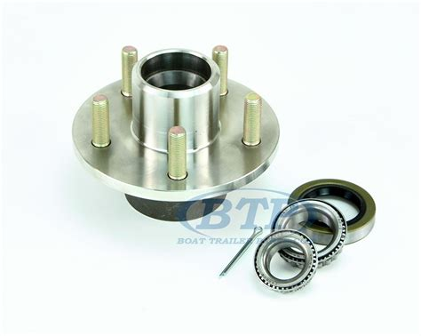 boat trailer hubs stainless steel 5 lug boat trailer hub with bearings for