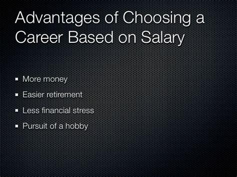 choosing a career factors to consider