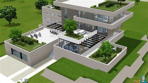 home design for the sims 3 build modern house sims 3 xbox 360 house modern