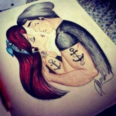 tattoo couple kissing image 2878185 by marine21 on favim com
