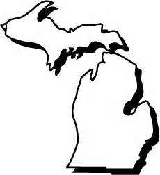 Outline Of Michigan State by Michigan Shape Quotes