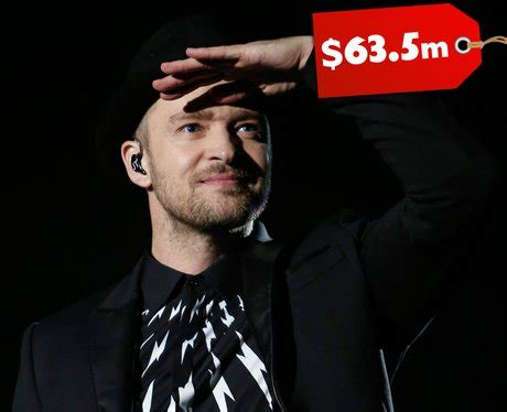 Fabulously Rich And Justin Timberlake by 5 Justin Timberlake 63 5 Million Chagne For