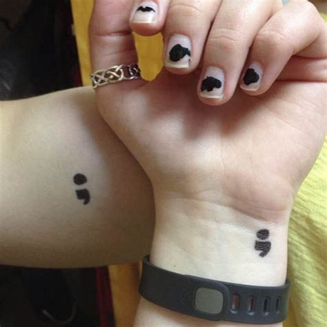 semicolon project what photos of punctuation tattoos on