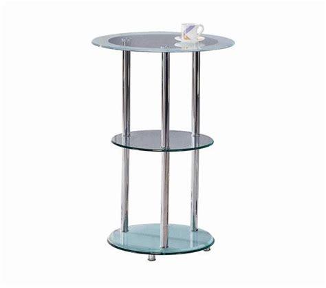 Glass Bar Table Dreamfurniture 30 01 Glass Bar Table