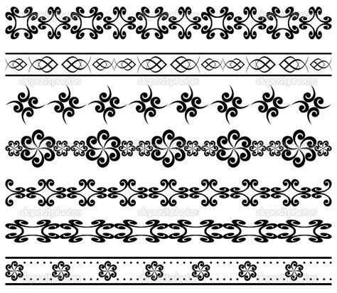 simple pattern border design simple geometric designs vector set of geometric borders