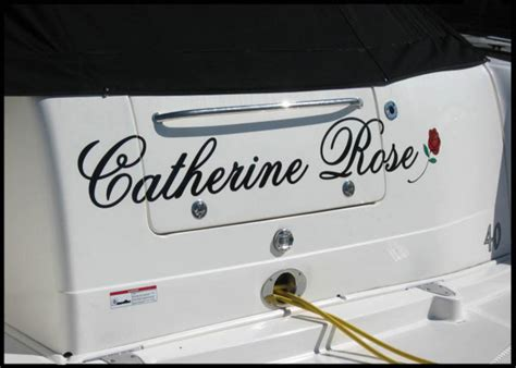custom boat graphics milwaukee catherine rose boat lettering for milwaukee area customer