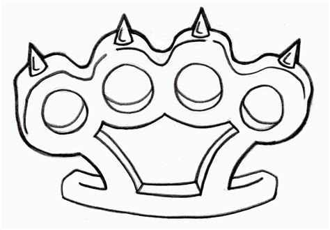 brass knuckles tattoo design every tattoos designs october 2011