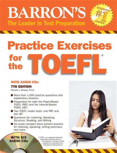 Buku Toefl Ibt buku rekomendasi tes toefl ielts barron s practice for the toefl 7th edition with 6cds