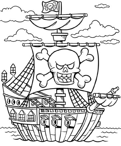 free coloring pages of pirate color page