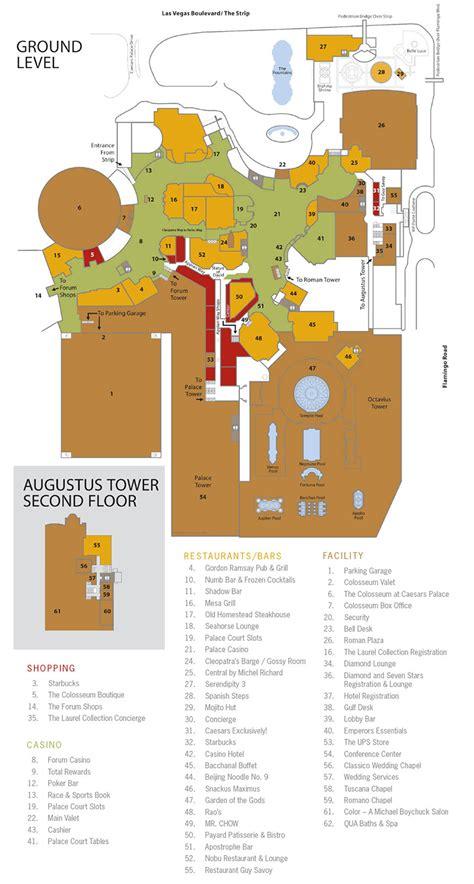 layout of caesars palace hotel las vegas showtimevegas com las vegas facility site maps