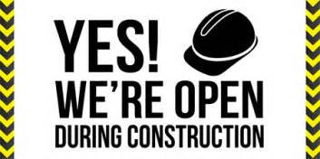 open during construction bike works