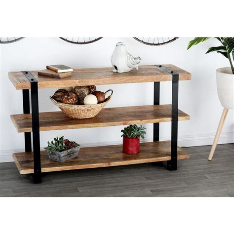 Sofa Table Home Depot by Litton Stained Brown And Black Console Table 28779