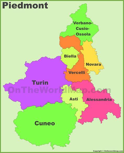 map of piedmont piedmont provinces map