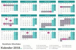 Kalender 2018 Nrw Kw Ferien Nordrhein Westfalen 2018 Ferienkalender 220 Bersicht