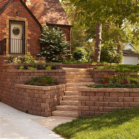 cheap garden wall curb appeal on a dime curb appeal front doors and retaining walls