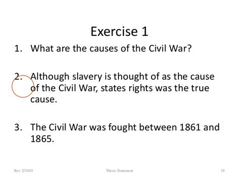 thesis statement for civil war american civil war thesis statement tips on writing