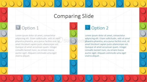 theme powerpoint lego two columns layout lego theme for powerpoint slidemodel