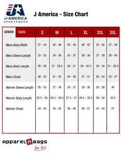 j america size chart online j america fit guide