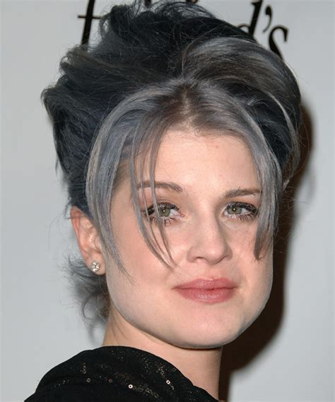 how to get osbournes haircolor kelly osbourne updo long straight casual updo hairstyle