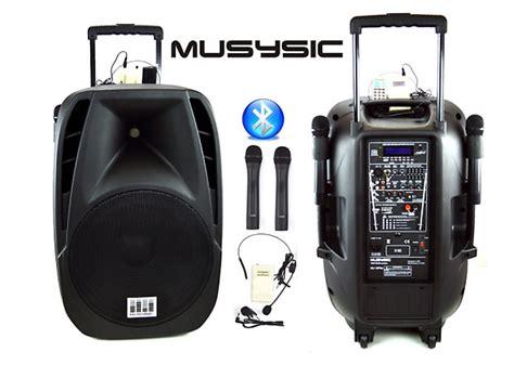 Mic Wireless Mu 1 musysic 1600 watts professional portable dual mic wireless reverb