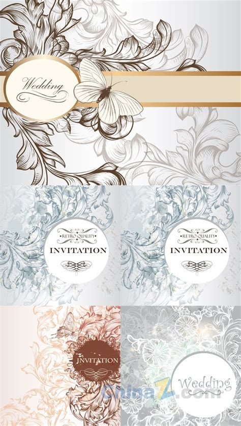 wedding invitation design vector free download elegant wedding invitation card vector design over