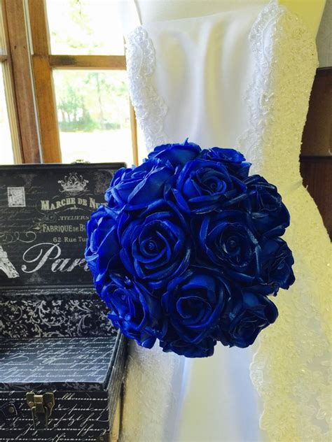 Wedding Bouquets For Sale by Real Touch Royal Blue Wedding Bouquet Royal Blue