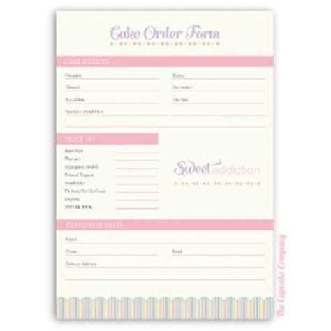 sle cake order form template custom stickers bespoke and stickers on
