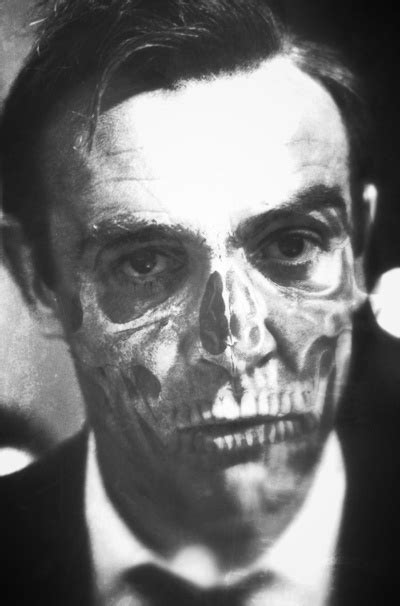 sean connery tattoo 007 connery skull portrait