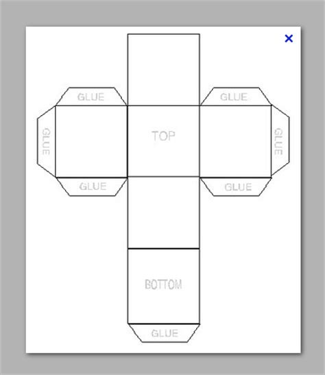paper cube template cube box template printable fingradio tk