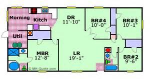 1999 Fleetwood Mobile Home Floor Plan mobile home floor plan barrington elite by fleetwood floor