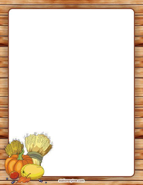 printable november stationery printable thanksgiving stationery and writing paper free