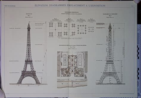 eiffel tower floor plan file eiffel tower plans 01 jpg wikimedia commons