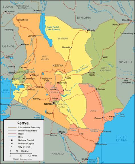 world map of kenya kenya map and kenya satellite images