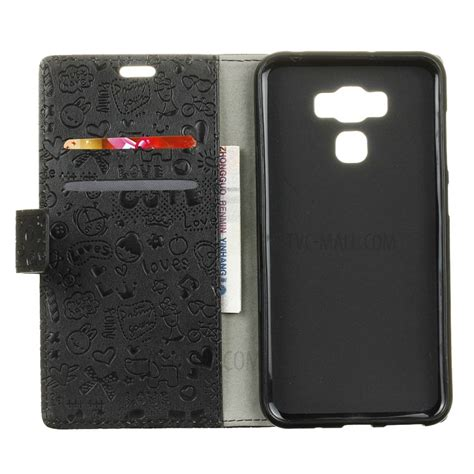 Asus Zenfone 3 Max Zc553kl Leather Wallet Casing Cover Bumper graffiti leather wallet stand for asus zenfone 3 max zc553kl black