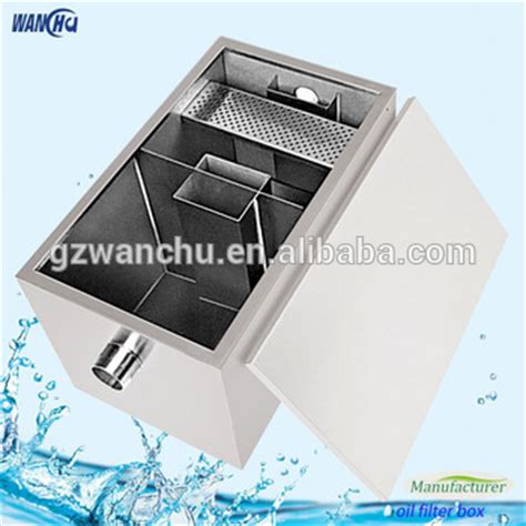 oil and grease trap for restaurant wastewater buy stainless steel automatic kitchen oil grease trap for