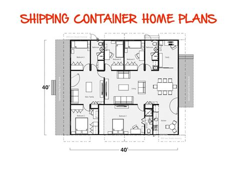 how to make blueprints for a house building with shipping containers plans container house