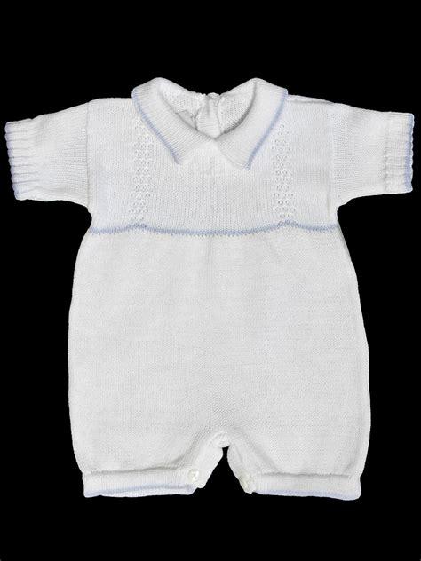 Baby S Trousseau Pale Blue Babys Trousseau White Romper W Blue Trim White Cross