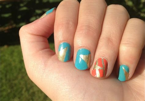 easy nail art masking tape funky nail art without the fuss beauty fashion