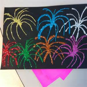 Paper Fireworks Crafts - firework craft using black construction paper elmer s