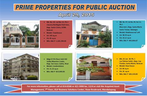 pag ibig housing loan acquired assets pag ibig fund acquired assets for sale april 29 2015