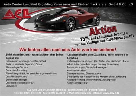 Autoinnenreinigung Zwickau by Acl Karosserie Und Einbrennlackiererei In Ergolding