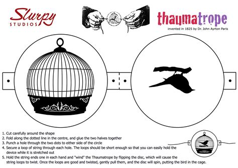 thaumatrope template printable slurpy studios animation and web design reviews news