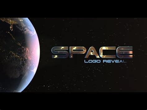 Space Logo Opener Adobe After Effects Template Youtube Space After Effects Template