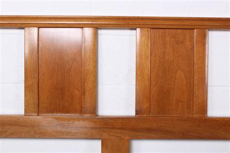 bleached mahogany headboard by edward wormley for dunbar