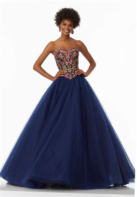 Prom Gowns by Tulle Prom Gown With Sweetheart Neckline Style 99020