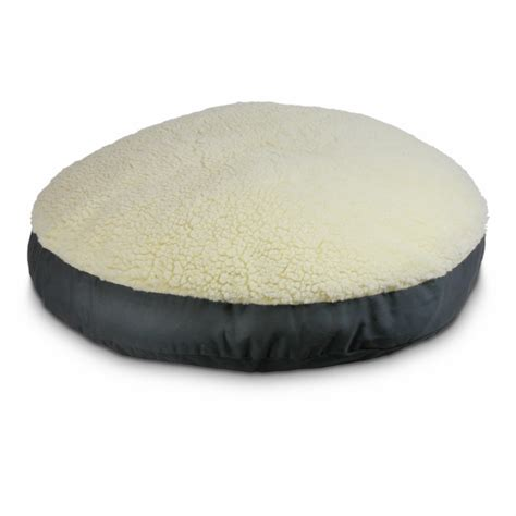 round dog bed cover replacement cover round pillow dog bed with cream fur 31