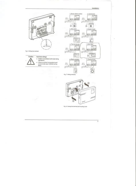 honeywell dt90e digital room thermostat wiring diagram
