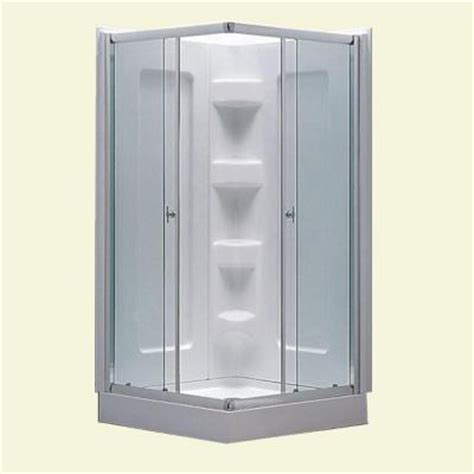 Home Depot Shower Kits by Dreamwerks 38 In X 38 In X 78 In Mosaic Contour Glass Enclosure Shower Kit In White