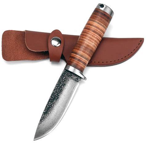 Handmade Fixed Blade Knives - sharp fixed blade knife handmade forged damascus